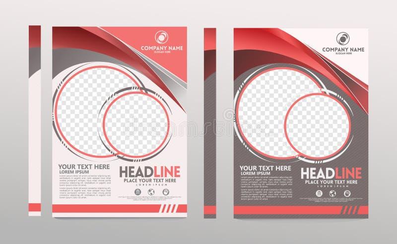 Размер шаблона крышки a4 Дизайн брошюры дела Крышка годового отчета r иллюстрация штока