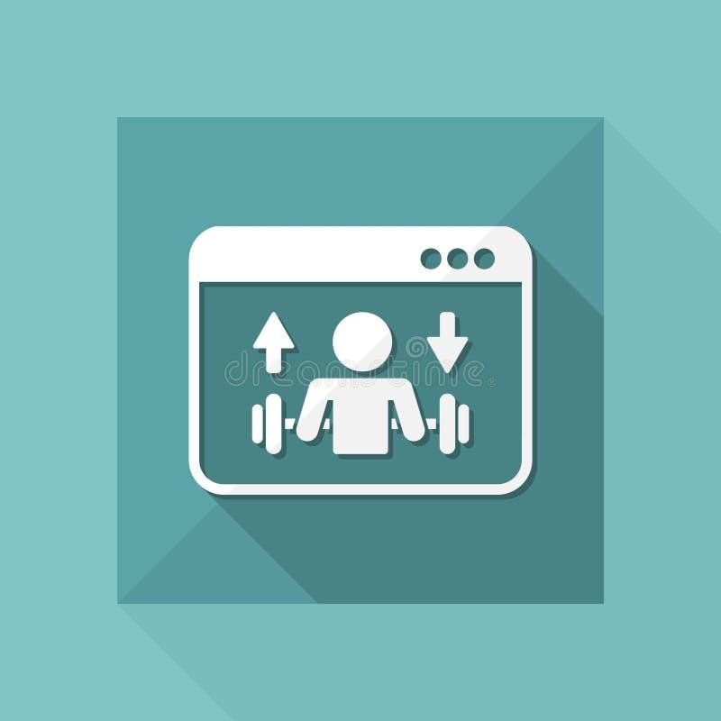 Разминка спортзала - Vector значок для вебсайта или применения компьютера иллюстрация вектора