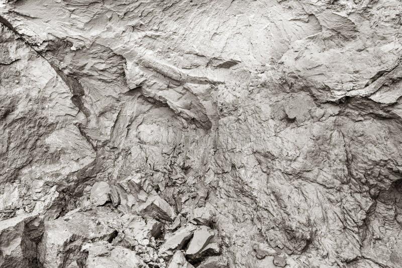 Размывание скалы Грязь, естественная глина, отказы в предпосылке утеса стоковые фото