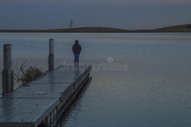 Размышлять на резервуаре Bethany стоковое изображение rf