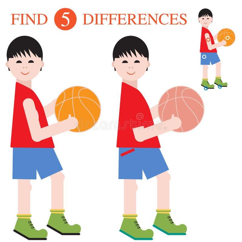 Разницы в находки 5 Воспитательные игры для детей бесплатная иллюстрация