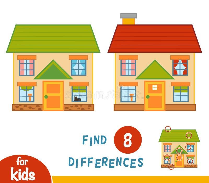 Разницы в находки, дом бесплатная иллюстрация