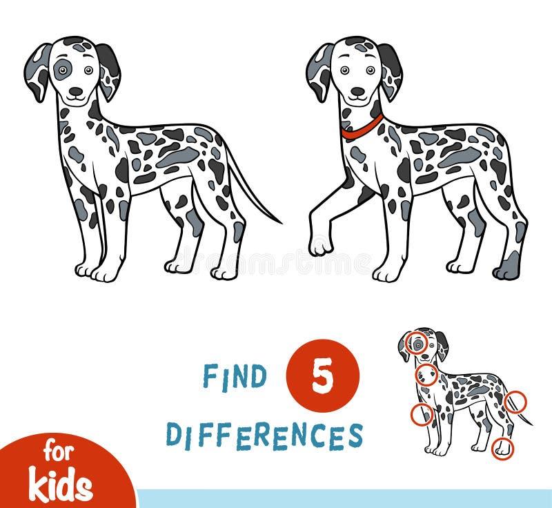 Разницы в находки, игра образования, Далматин бесплатная иллюстрация