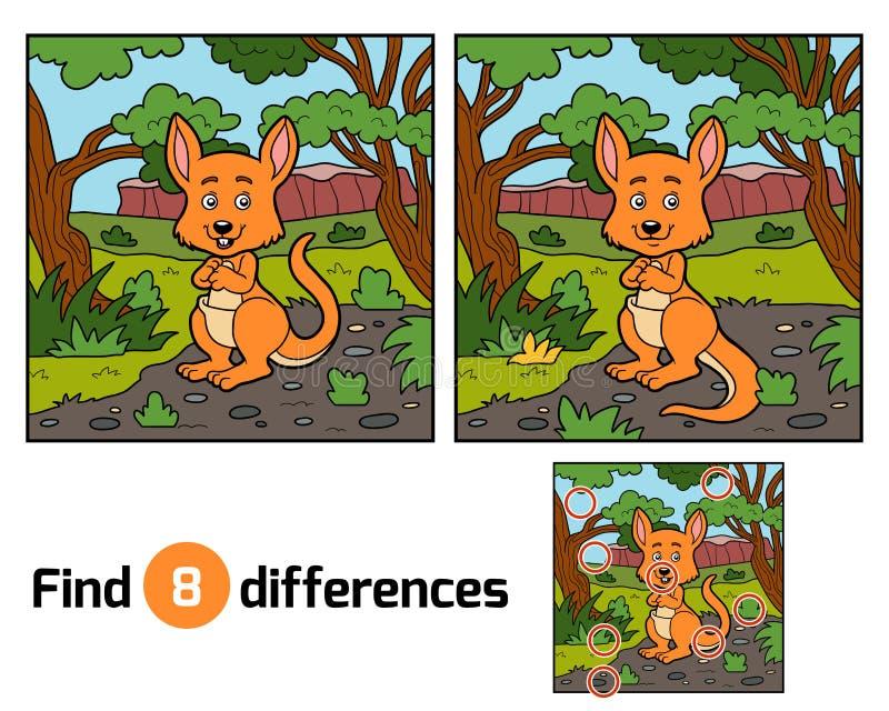 Разницы в находки, кенгуру бесплатная иллюстрация