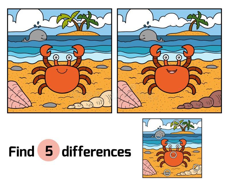 Разницы в находки (краб и предпосылка) иллюстрация вектора