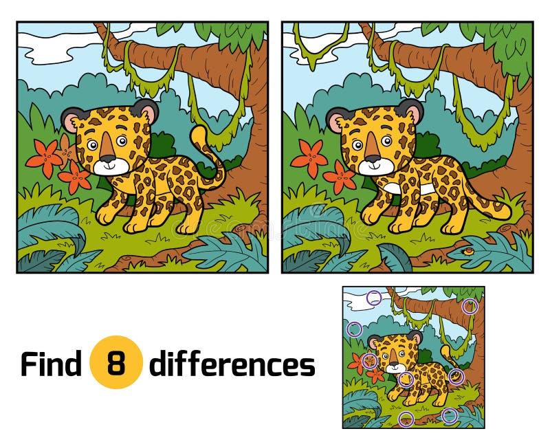 Разницы в находки, ягуар иллюстрация штока