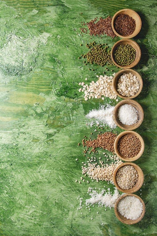 Разнообразие зерен стоковое изображение rf