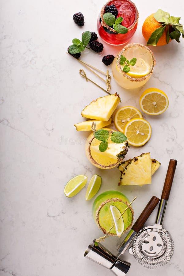 Разнообразие коктеилей маргариты стоковые фото