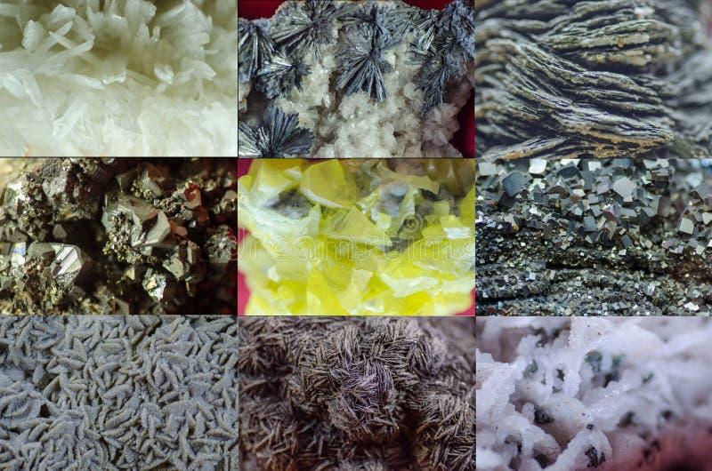 Разнообразие минералов стоковые изображения rf