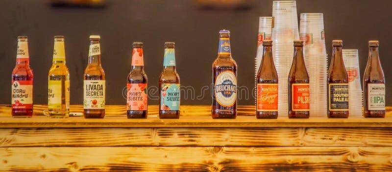 разнообразие мира пив текила стоковое фото