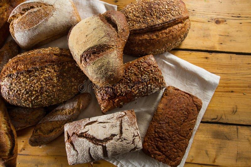 Разнообразие ломтей хлеба стоковая фотография rf