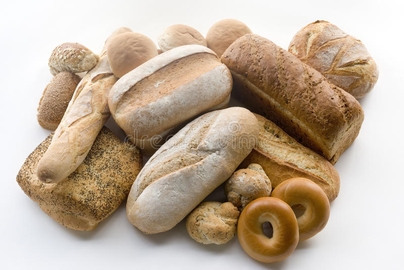 разнообразие продуктов хлеба стоковая фотография