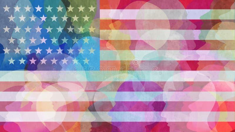 Разнообразие Соединенных Штатов бесплатная иллюстрация