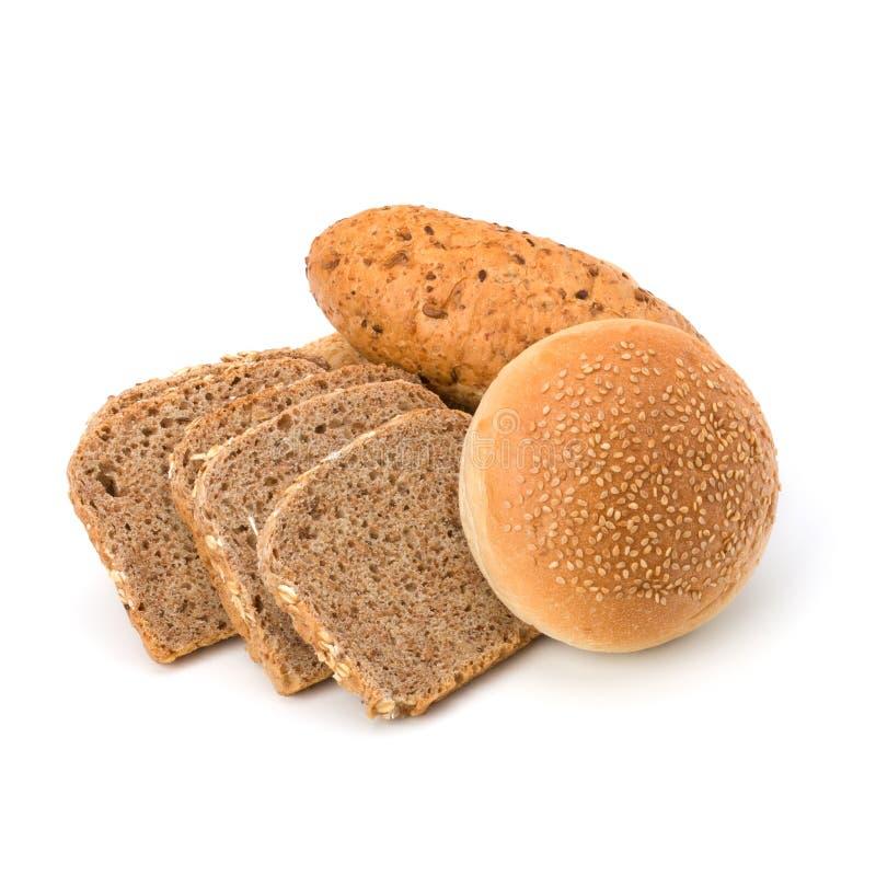 Разнообразие хлебцев и плюшек хлеба стоковое изображение rf
