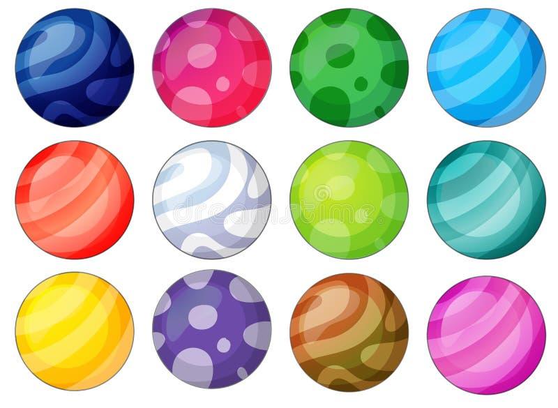Разнообразие шарика иллюстрация штока