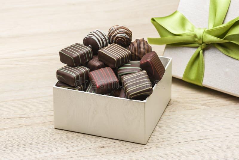 Разнообразие шоколадов стоковые изображения rf