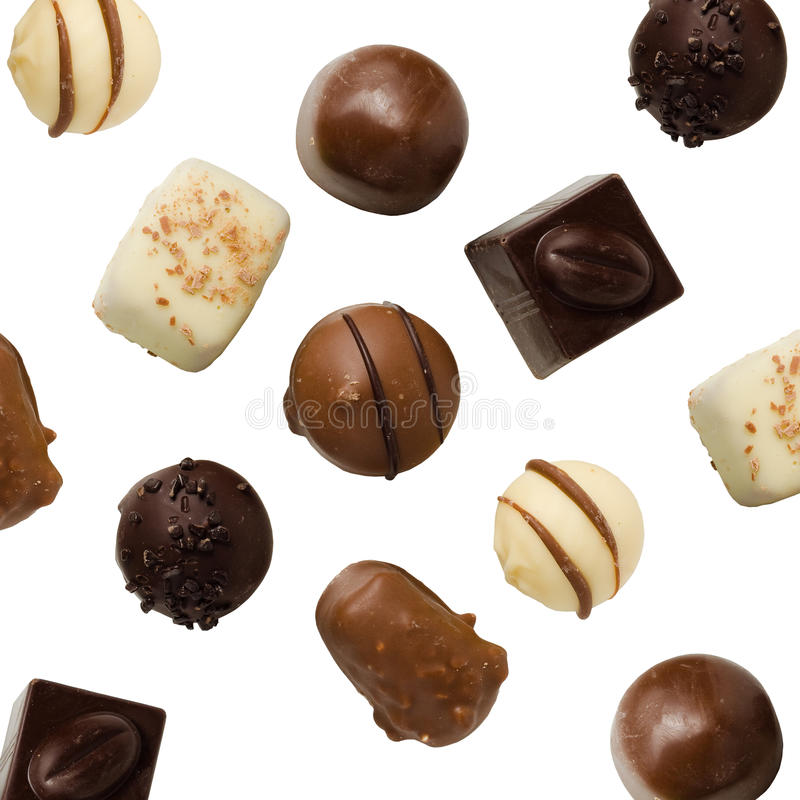 разнообразие шоколадов handmade стоковые изображения rf