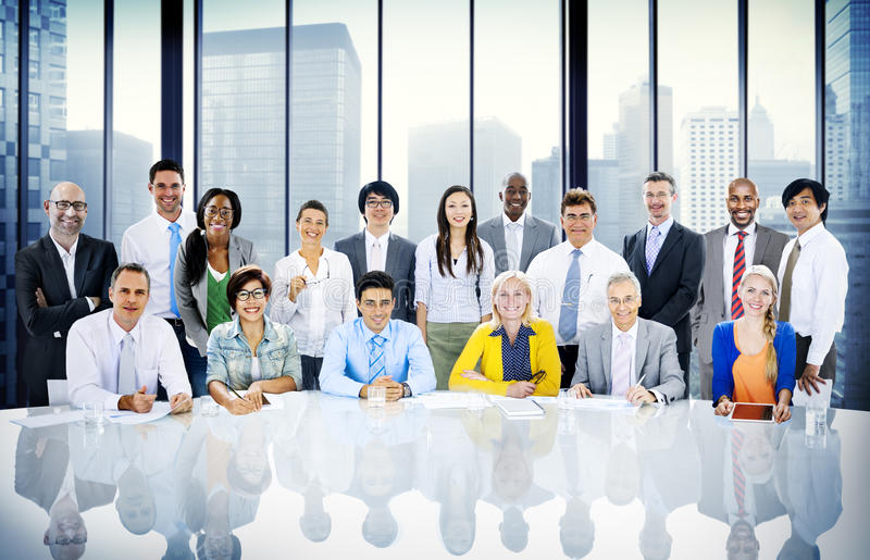 Разнообразия бизнесмены концепции команды корпоративной профессиональной стоковое фото rf