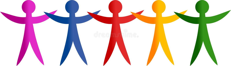 разнообразная команда бесплатная иллюстрация