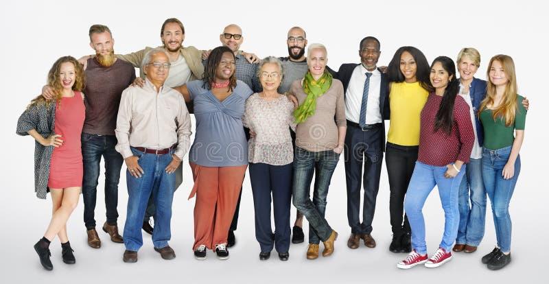 Разнообразная концепция единения общины группы людей стоковые изображения