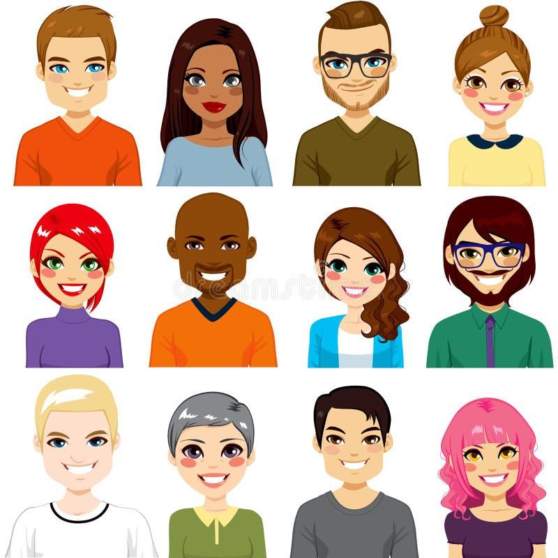 Разнообразное собрание воплощения иллюстрация штока
