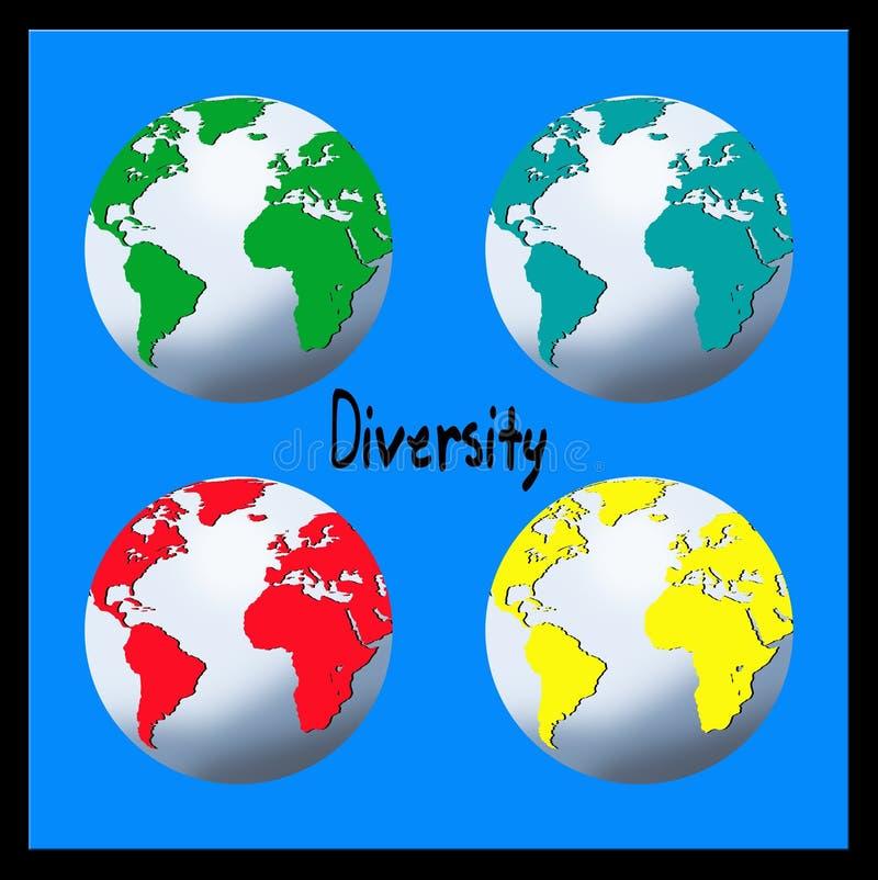 разнообразность иллюстрация вектора
