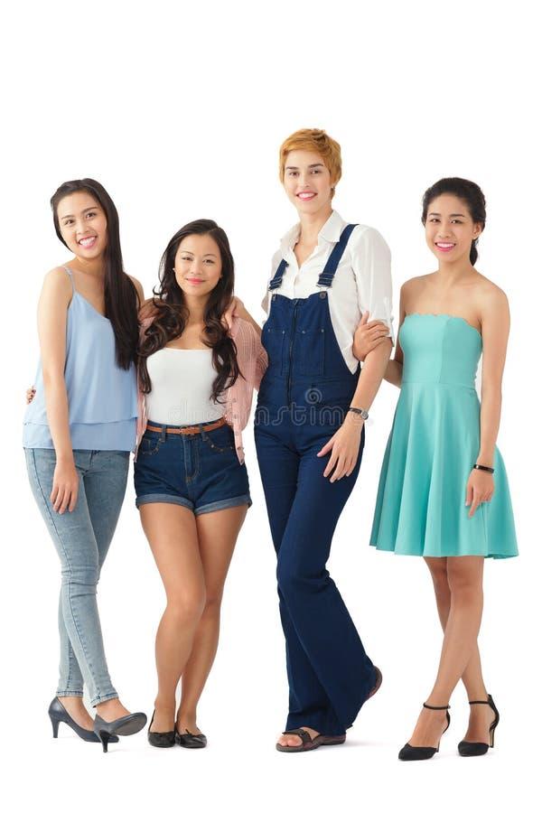 Разнообразные молодые женщины стоковые изображения rf