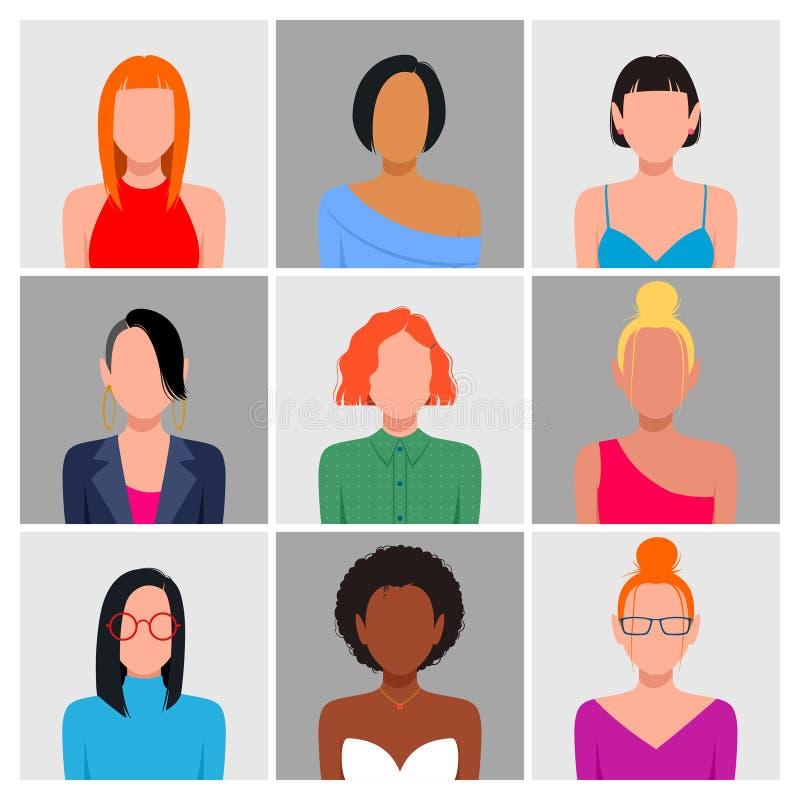 Разнообразный набор воплощения людей иллюстрация вектора