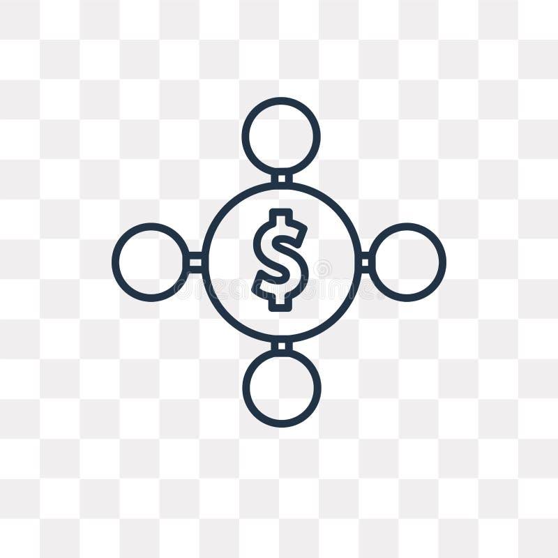 Разнообразьте значок вектора изолированный на прозрачной предпосылке, линейной бесплатная иллюстрация