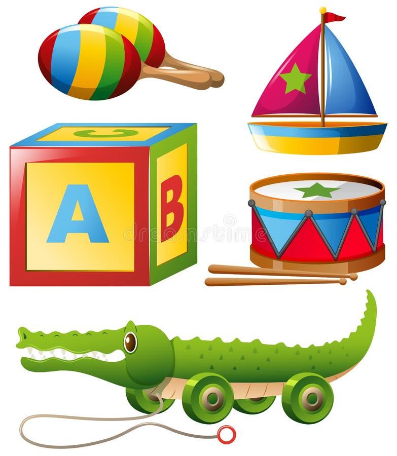 Разные виды игрушек в комплекте бесплатная иллюстрация