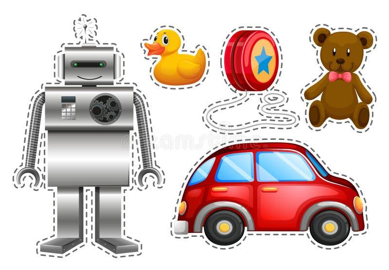 Разные виды игрушек иллюстрация штока