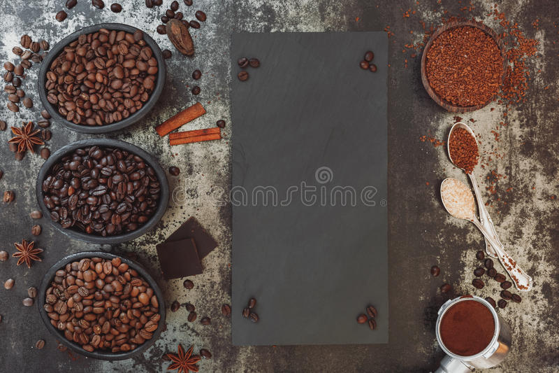 Разные виды кофе стоковая фотография