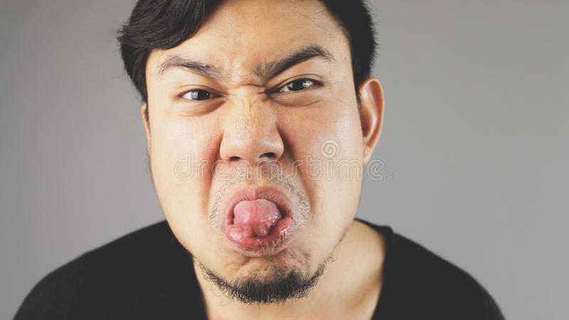 дразня язык стоковое фото rf