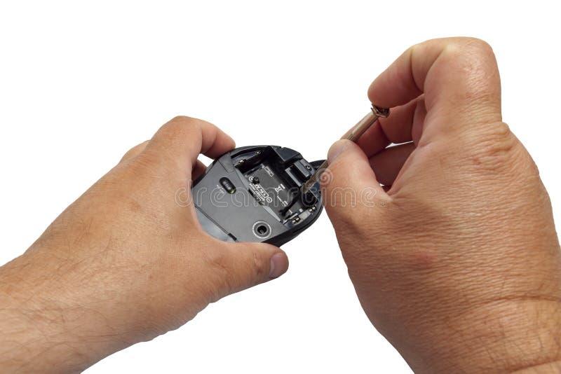 Разобрал мышь компьютера стоковые фотографии rf