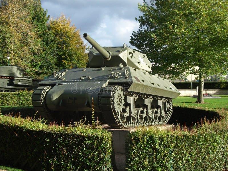Разоритель танка M10 США, Байё, Нормандия стоковые фото