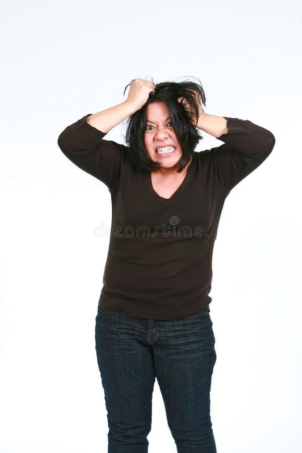 разочарованная испанская женщина стоковая фотография rf