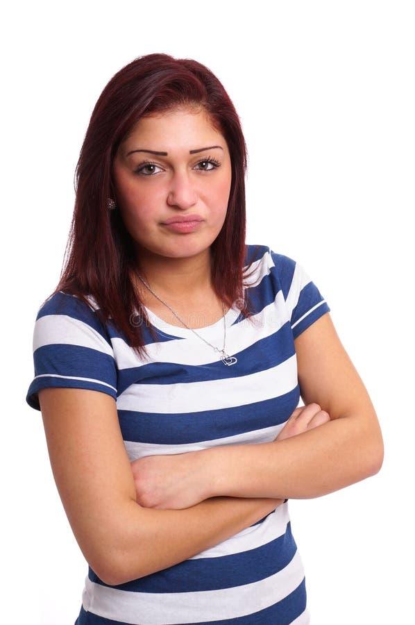 Разочарованная молодая женщина стоковые фотографии rf