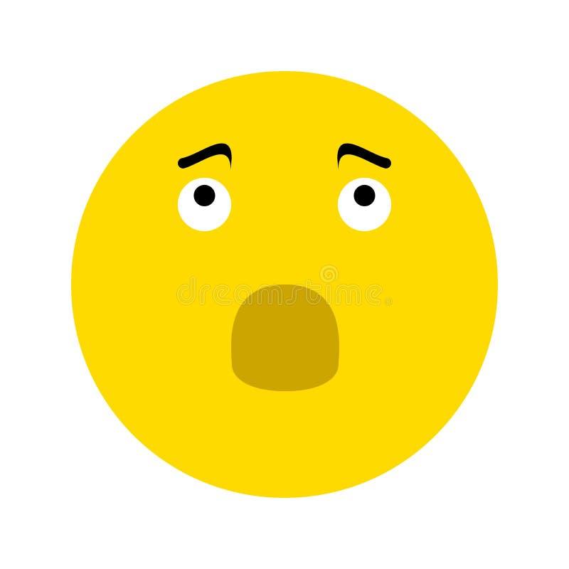 Разочарованный значок Smiley иллюстрация штока