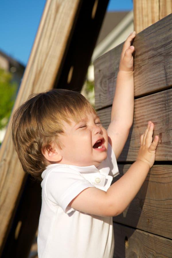 разочарованный малыш стоковая фотография