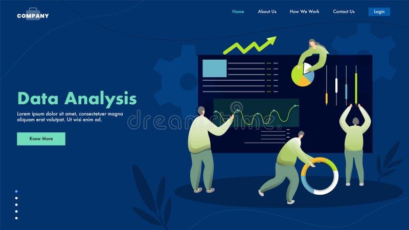 Разработка начальной страницы на основе концепции анализа данных с участием бизнес-специалистов или аналитиков бесплатная иллюстрация