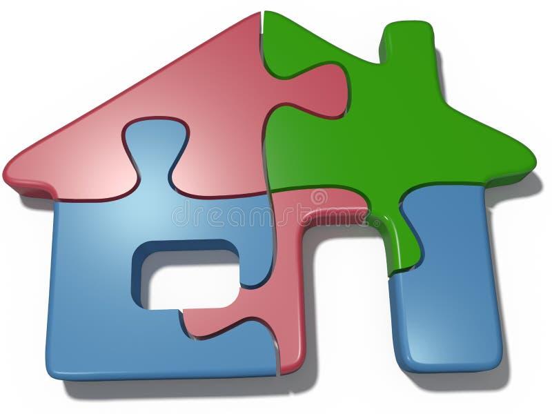 Разрешение недвижимости головоломки дома бесплатная иллюстрация
