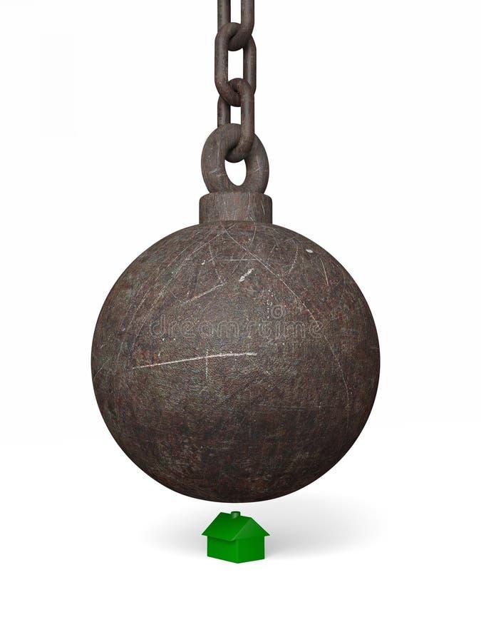 разрушать плохого шарика большой бесплатная иллюстрация