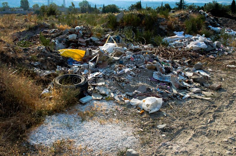разрушая окружающая среда стоковые изображения