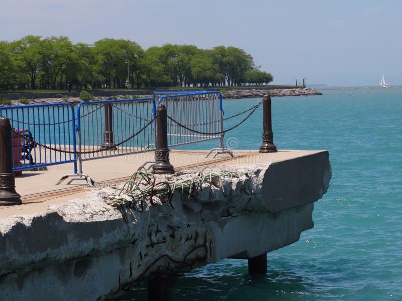 Разрушение на пристани стоковые фотографии rf