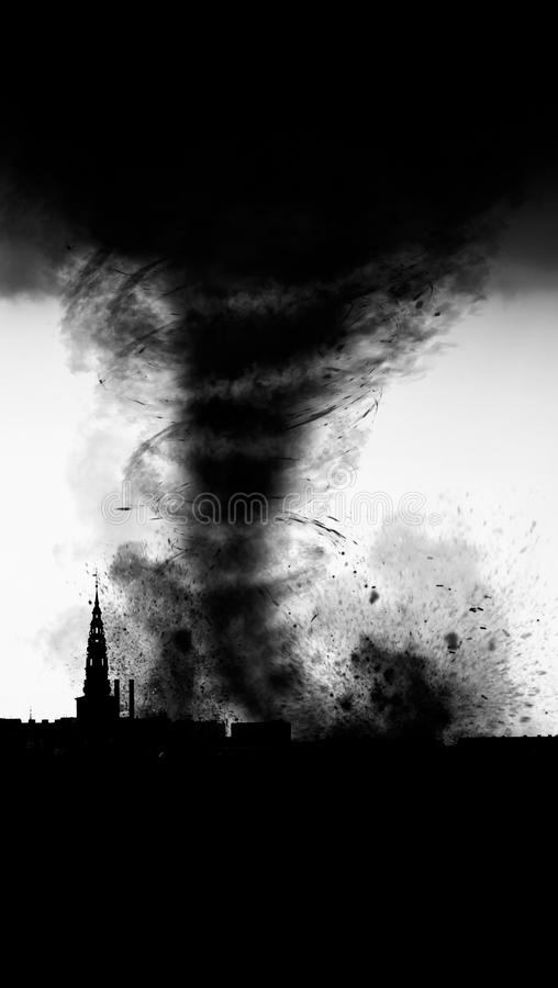 Разрушение шторма торнадо стоковые фото