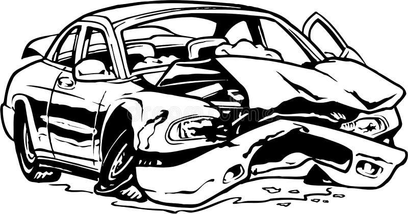 Разрушенная иллюстрация автомобиля иллюстрация вектора
