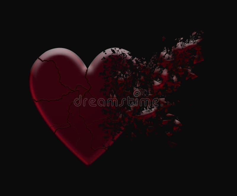 Разрушенное сердце стоковое фото