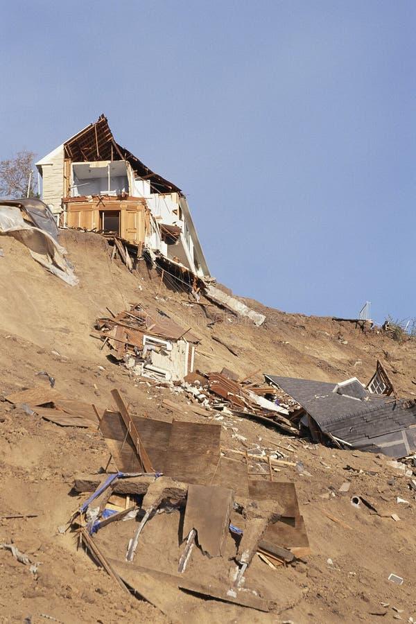Разрушенные дома стоковое изображение rf