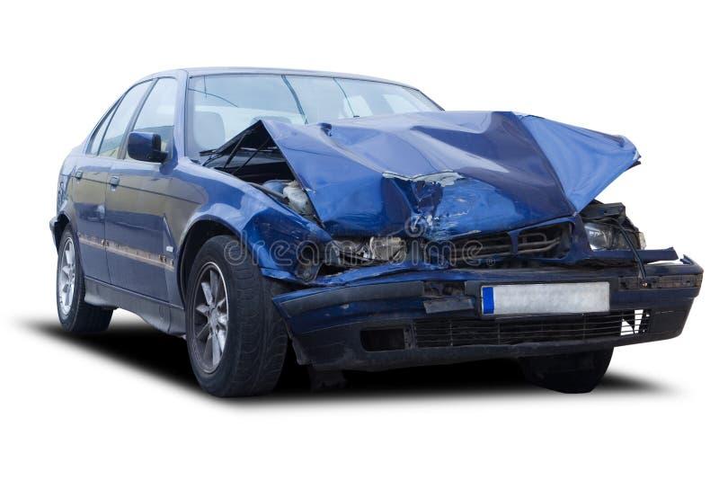 разрушенный автомобиль стоковое фото rf
