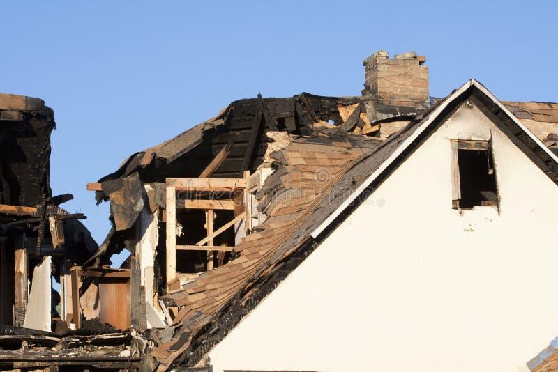 разрушенный пожар стоковое изображение rf